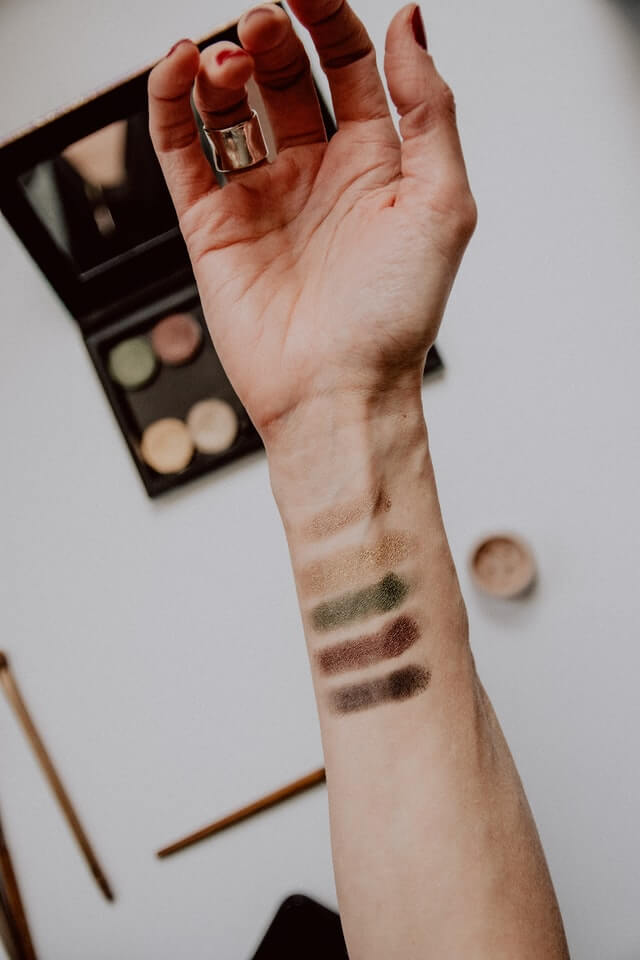 Samples on skin